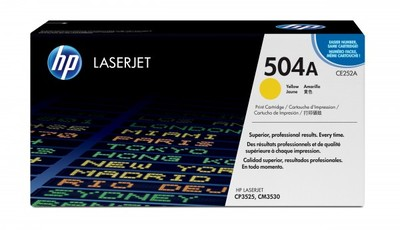 Toner HP Color LaserJet CP3525, gelbNr.504A (CE252A)