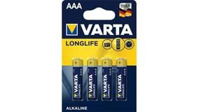 Batterie Micro Alkaline 1.5V, 4 StückAAA, Varta